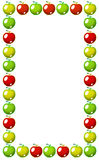 Blocco per grafici rosso, giallo e verde delle mele Fotografie Stock