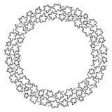 Blocco per grafici rotondo delle foglie di acero Illustrazione di vettore illustrazione vettoriale