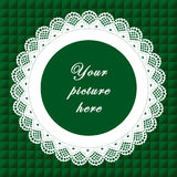 blocco per grafici rotondo verde del merletto di +EPS, priorità bassa senza giunte Immagini Stock Libere da Diritti