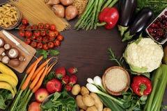 Blocco per grafici sano di cibo Fotografia Stock Libera da Diritti