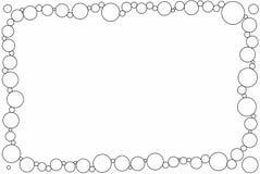Blocco per grafici semplice della foto dei cerchi royalty illustrazione gratis
