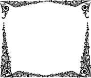 Blocco per grafici semplice nero isolato su bianco illustrazione di stock