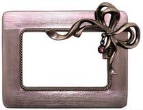 Blocco per grafici spazzolato del metallo con l'arco Fotografie Stock Libere da Diritti