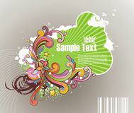 Blocco per grafici a strisce colorato per testo Fotografia Stock