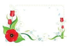 Blocco per grafici variopinto con i flowerses Fotografia Stock