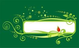 Blocco per grafici verde illustrazione di stock
