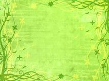 Blocco per grafici verde con i reticoli floreali Fotografia Stock Libera da Diritti