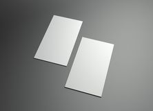 Blocco per grafici verticale di namecard Fotografia Stock