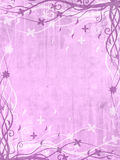 Blocco per grafici viola con i reticoli floreali Fotografia Stock Libera da Diritti