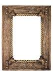 Blocco per grafici vuoto della foto (con il percorso di residuo della potatura meccanica) Fotografie Stock