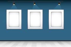 Blocco per grafici vuoto della foto sulla parete Fotografia Stock