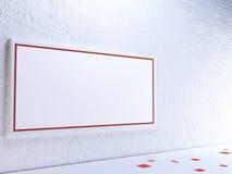 Blocco per grafici vuoto sulla parete Fotografie Stock