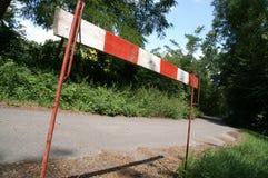 blocco stradale 2 fotografie stock