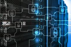 Blochain information encryption. Cyber security, crypto currency.  royalty free stock photos
