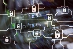 Blochain information encryption. Cyber security, crypto currency.  stock photography