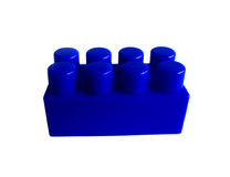 Block. Blue toy royalty free stock image