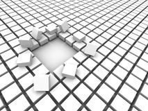 Block. Empty block (3D illustration, high resolution Royalty Free Stock Photo