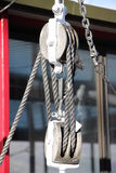 Block And Tackle With Rope Royalty Free Stock Photography