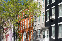 Block of Apartment buildings in Greenwich Village, New York City Royalty Free Stock Photo