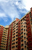 Block of apartments. Block of highrise apartments/flats Stock Photos