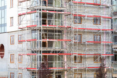 Block of apartments under construction Royalty Free Stock Photos