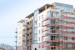 Block of apartments under construction Stock Photo