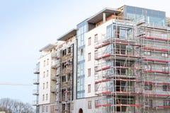Block of apartments under construction Stock Photo