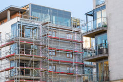 Block of apartments under construction Royalty Free Stock Photo