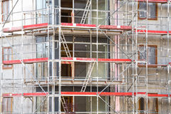 Block of apartments under construction Stock Photography