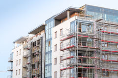 Block of apartments under construction Royalty Free Stock Image