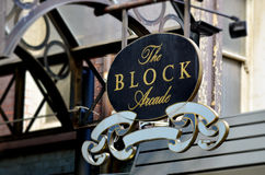 The Block Arcade Street Sign - Melbourne. The Block Arcade street sign in Melbourne CBD Victoria, Australia Royalty Free Stock Images