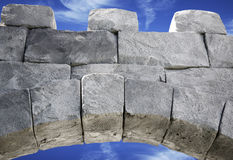 Block archway. Archway made of rock blocks royalty free stock images