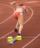 block av att starta för löpare Fotografering för Bildbyråer