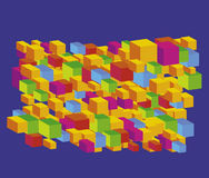Block background. Vector various colour block background Stock Photo