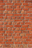 Block background. Old brick wall of red bricks. Stock Images