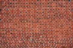Block background . old brick wall of red bricks. Stock Image