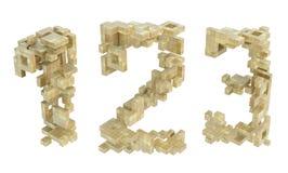 Block-Bau-Zahlen Stockbilder
