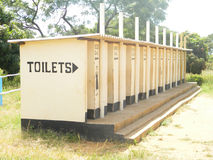 Block of  Blair pit latrines/toilets Royalty Free Stock Photography