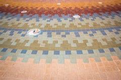 Block-Boden-Muster, Zusammenfassung, Hintergrund Stockfoto