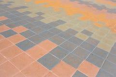 Block-Boden-Muster, Zusammenfassung, Hintergrund Stockfotografie
