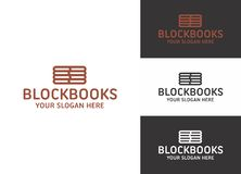 Block Books Logo Template Royalty Free Stock Photography