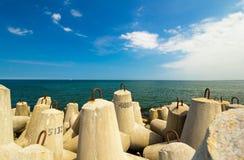 Block break water at baltic sea Royalty Free Stock Images