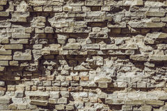 Block brick wall building exterior, stone material pattern, structure Stock Image