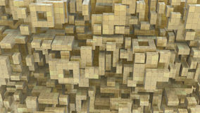 Block Build Abstract. Pile of abstract 3d blocks screen background, horizontal Stock Photo
