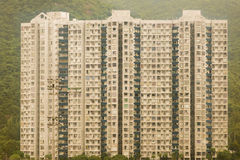 Block of building on hill in Hong Kong. In a wonderful hot day in November Royalty Free Stock Image