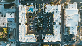 Block of buildings aerial Stock Photo