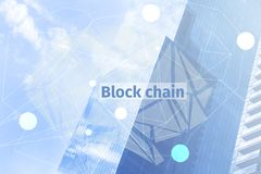 Block chain digital concept. Business technology big data blockchain internet background. Financial information. Crypto currency. Block chain digital concept Stock Photos