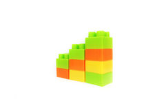 Block chart. Three color block on the business chart Stock Photos