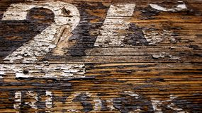 Block 24. Close up block number in Auschwitz Concentration Camp, Oswiecim Poland Stock Photo