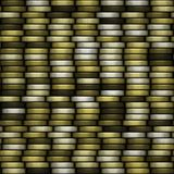 Block of coins seamless generated texture background. Block of coins seamless generated texture Royalty Free Stock Photo